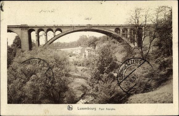 Ak Luxemburg, Vue du Pont Adolphe, Blick auf die Brücke