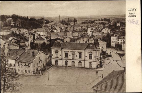 Ak Cirey Haute Saône, Totalansicht von der Ortschaft