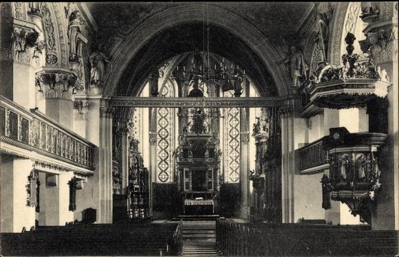 Ak Celle in Niedersachsen, Stadtkirche, Innenansicht