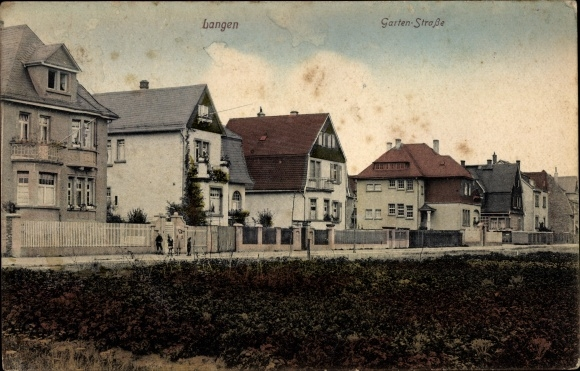 Ak Langen im Kreis Offenbach Hessen, Gartenstraße