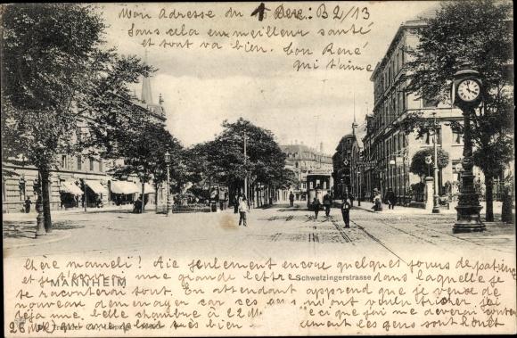 Ak Mannheim in Baden Württemberg, Schwetzinger Straße