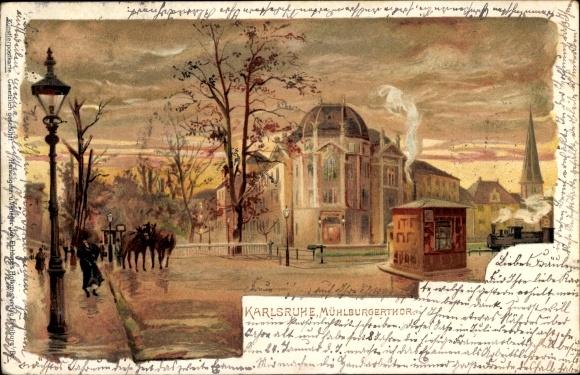 Litho Karlsruhe in Baden Württemberg, Mühlburger Tor