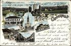Litho Osterfeld im Burgenlandkreis, Schlossturm, Lutherkirche, Rathaus, Bahnhof