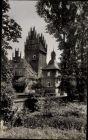 Foto Ak Heessen Hamm Nordrhein Westfalen, Blick auf das Schloss, Gartenpartie