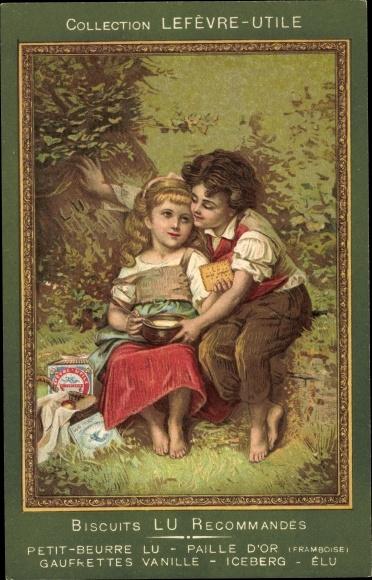 Künstler Ak Collection Lefèvre Utile, Biscuits LU, Kinder