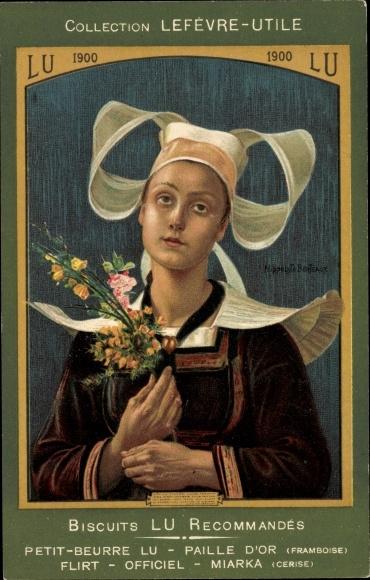 Künstler Ak Berteaux, Collection Lefèvre Utile, Biscuits LU