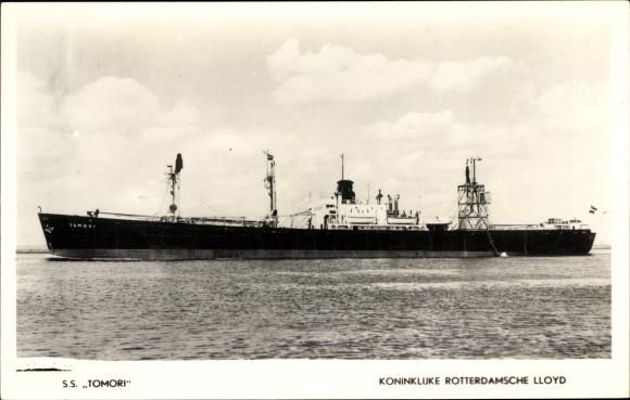 Ak Frachtschiff, SS Tomori, KRL, Ansicht Backbord