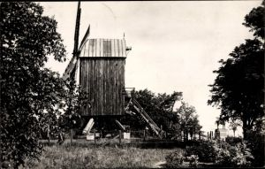 Ak Mont Cassel Nord, Le Moulin qui vient d'être érigé sur l'emplacement de l'ancien Kasteel Meulen