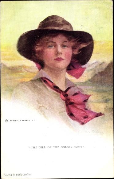 Künstler Ak Boileau, Philip, The Girl of the Golden West, Frauenportrait