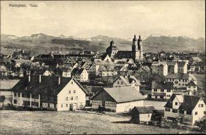 Ak Kempten im Allgäu Schwaben, Blick auf die Stadt mit Alpenpanorama
