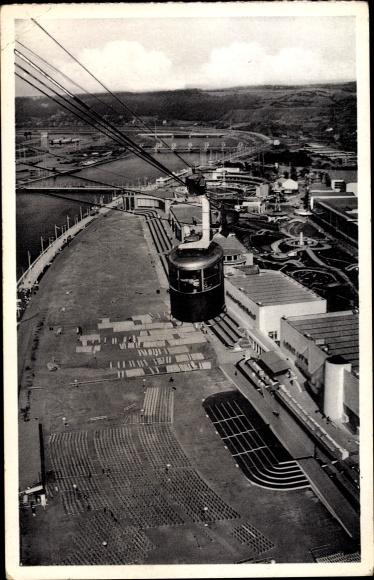 Ak Liège Lüttich Wallonien, Liège Lüttich Wallonien, Expo 1939, Vue panoramique, Luftseilbahn