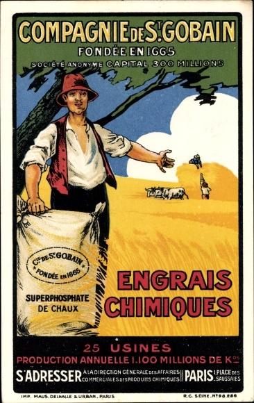 Künstler Ak Compagnie de St. Gobain, Engrais chimiques, Superphosphate de Chaux