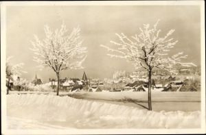 Ak Oberhof im Thüringer Wald, Blick auf den Ort im Winter