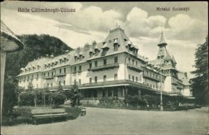 Ak Baile Calimanesti Râmnicu Vâlcea Wultsch Rumänien, Hotelul Societatii, Hotelpartie