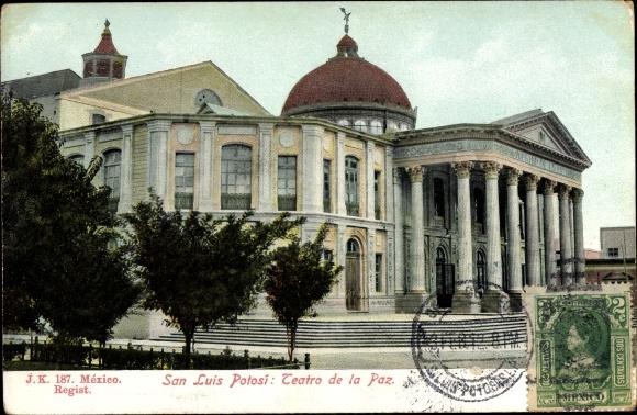 Ak San Luis Potosí Mexiko, Teatro de la Paz