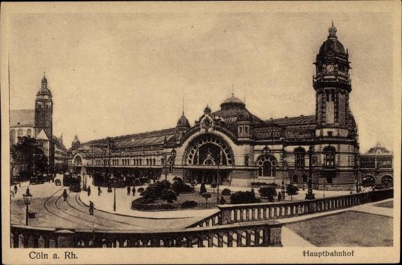 Ak Köln am Rhein, Blick auf den Hauptbahnhof