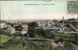 Ak Fourmies Trieux Nord, Vallée de l'Helpe, Panorama vom Ort