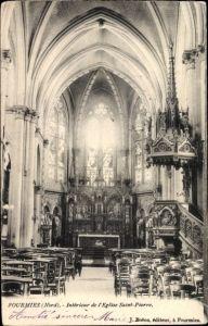 Ak Fourmies Trieux Nord, Intérieure de l'Eglise Saint Pierre