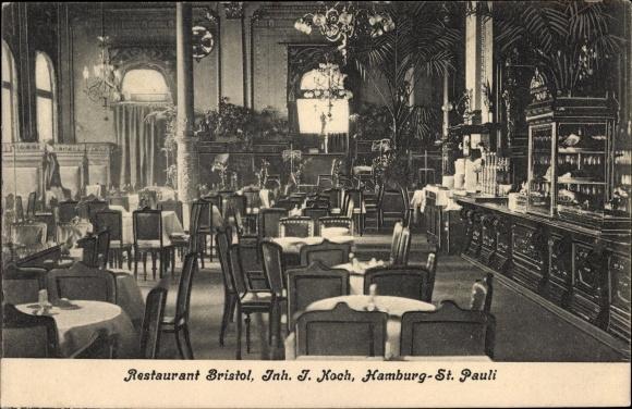 ak hamburg mitte st pauli ansichten vom restaurant bristol inh j koch nr 1958261. Black Bedroom Furniture Sets. Home Design Ideas