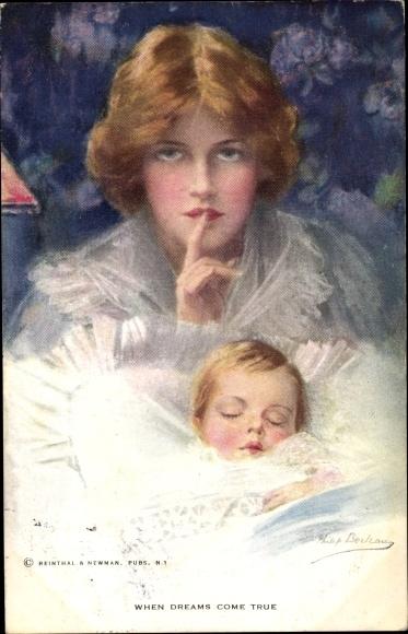 Künstler Ak Boileau, Philip, Mutter mit schlafendem Kleinkind, When dreams come true