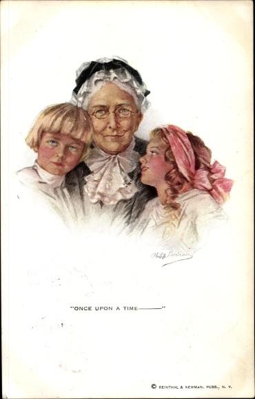 Künstler Ak Boileau, Philip, Once upon a time, Großmutter, Kinder, Enkel