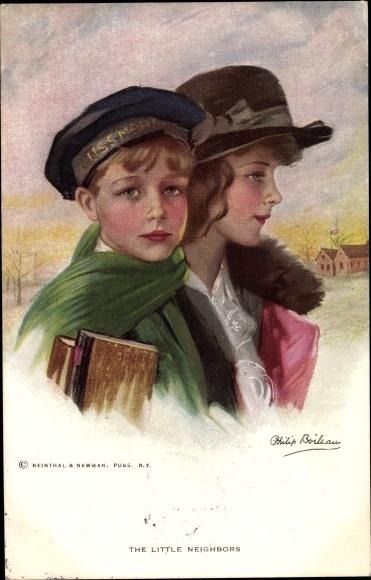 Künstler Ak Boileau, Philip, The little Neighbors, Kinder