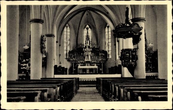 Ak Südlohn in Westfalen, Innenansicht der Pfarrkirche, Altar