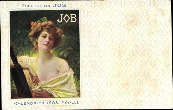 Künstler Ak Gervais, P., Collection JOB, Calendrier 1905