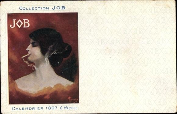 Künstler Ak Maurice, G., Collection JOB, Calendrier 1897