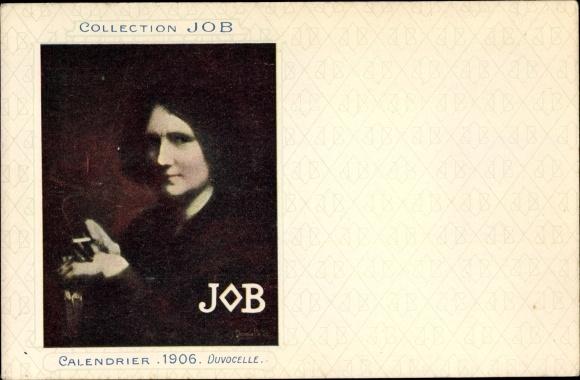 Künstler Ak Duvocelle, Collection JOB, Calendrier 1906