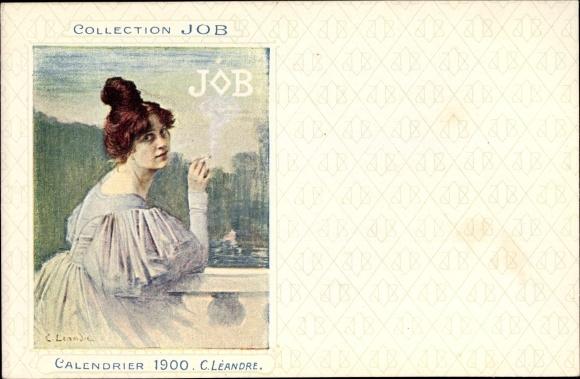 Künstler Ak Léandre, C., Collection JOB, Calendrier 1900