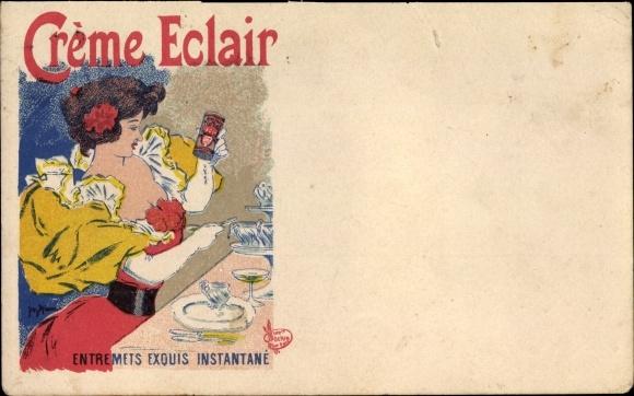 Künstler Ak Crème Eclair, Entremets exquis instantané 0
