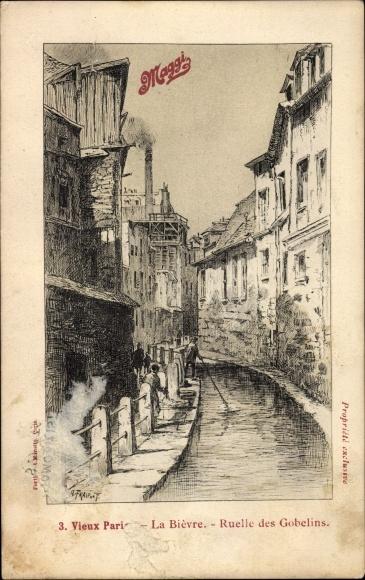 Künstler Ak Fraipont, G., Paris, La Bievre, Ruelle des Gobelins