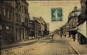 Ak Fourmies Trieux Nord, Rue Saint Louis et entrée de la Rue des Deux Ponts, Straßenansicht