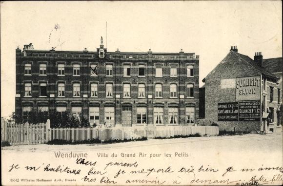 Ak Wenduine De Haan Westflandern, Villa du Grand Air pour les Petits, Sunlight Savon Reklame