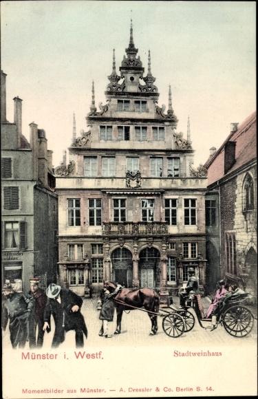 Ak Münster in Westfalen, Ansicht vom Stadtweinhaus