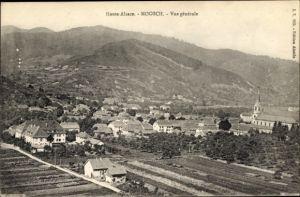 Ak Moosch Elsaß Elsass Haut Rhin, Vue générale, Totalansicht vom Ort