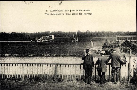 Ak L'Aéroplane prêt le lancement, Flugzeug beim Start