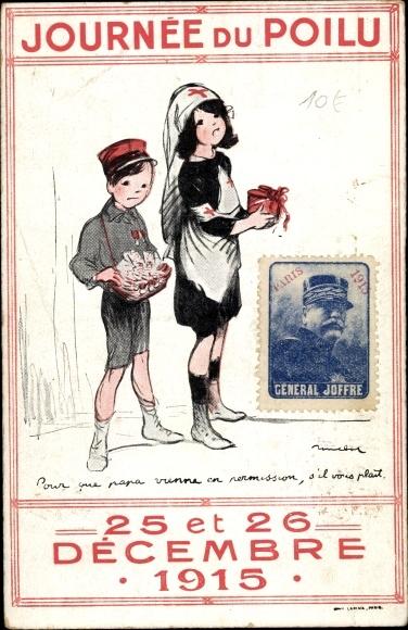 Künstler Ak Poulbot, Francisque, Journée du Poilu, 25 et 26 Décembre 1915