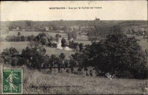 Ak Montbazon Indre et Loire Frankreich, Vue sur la Vallée de l'Indre