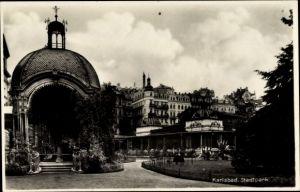 Ak Karlovy Vary Karlsbad Stadt, Stadtpark, Sprudelhaus