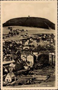 Ak Vejprty Weipert Region Aussig, Blick auf Ortschaft und Bärenstein
