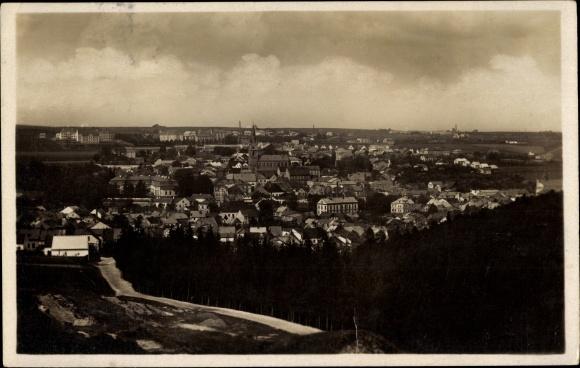 Ak Tachov Tachau Reg. Pilsen, Panorama der Ortschaft