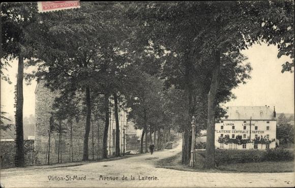 Ak Virton St. Mard Wallonien Luxemburg, Avenue de la Laiterie, Laiterie Centrale a Vapeur, Molkerei