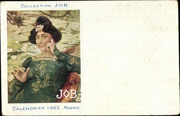 Künstler Ak Maxence, Collection JOB, Calendrier 1903