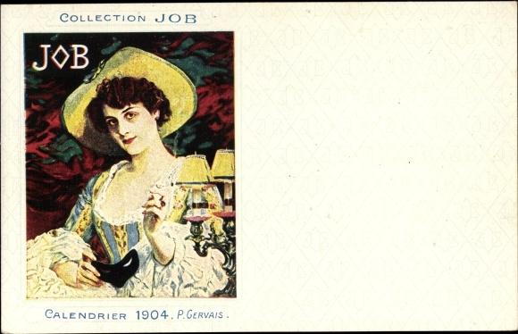 Künstler Ak Gervais, P., Collection JOB, Calendrier 1904