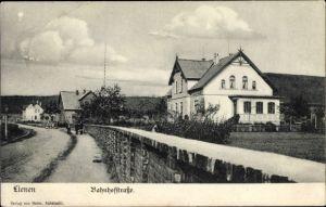 Ak Lienen im Tecklenburger Land, Blick in die Bahnhofstraße