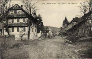 Ak Fulleren Füllern Elsass Haut Rhin, Rue Principale, Straßenpartie