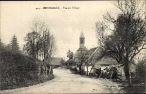 Ak Michelbach Elsass Haut Rhin, Vue du Village, Dorfansicht
