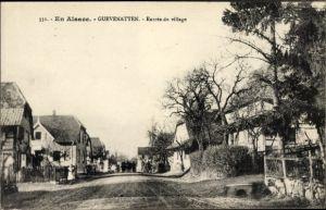 Ak Guevenatten Gevenatten Elsass Haut Rhin, Entrée du village, Straßenpartie